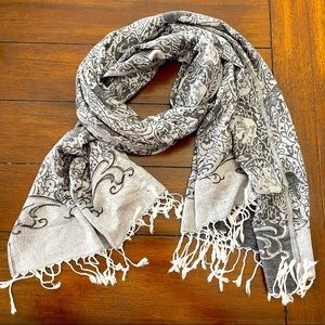 Elephant cashmere scarf wrap
